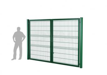 Ворота распашные оцинкованные DVM ECONOM 1700х3000, ППRAL