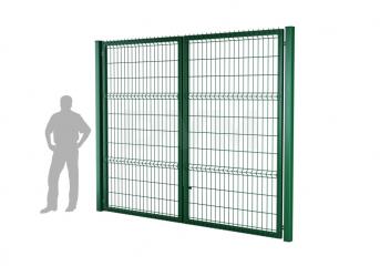 Ворота распашные оцинк. DVM PRO 2500х6000, ППRAL